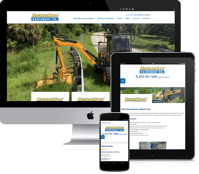 MowerMax Website Design